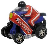 Motorcykel röd-blå